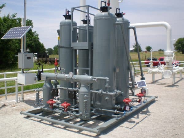 passive dehydration oil and gas