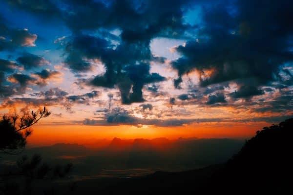 texas, mountains, sunset