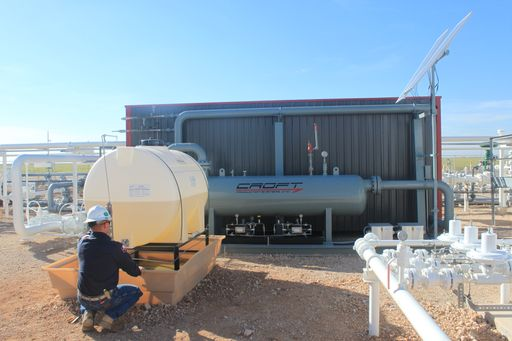 servicing a chemical injection system
