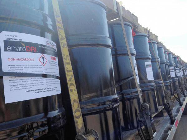 truck of enviroDRI desiccant=