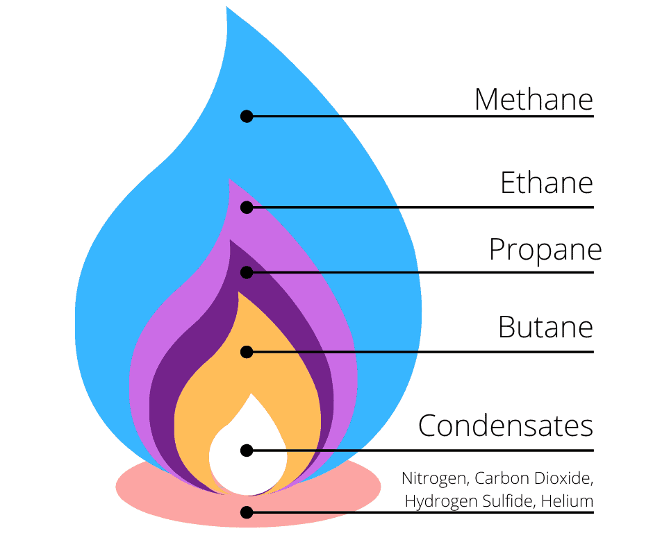 The component that make up natural gas