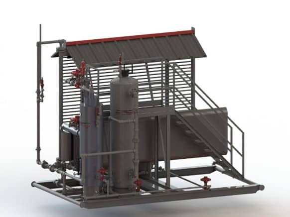 CROFT Fuel Gas Conditioning System Rendering