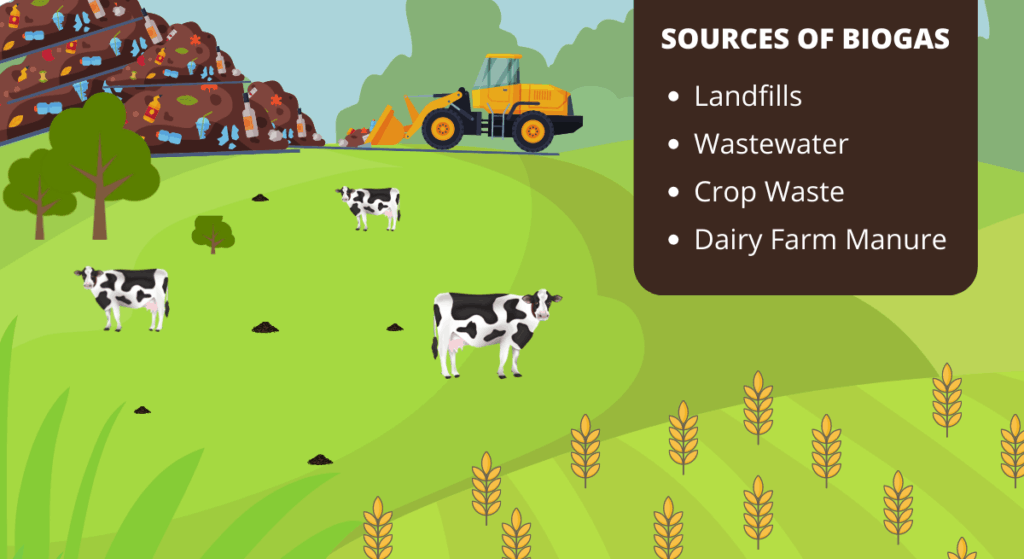 sources of biogas